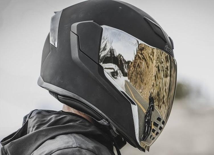 Kask integralny Icon Airflite Rubatone Dark   Sklep Moto